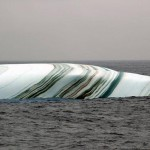 Пласт слоистого льда.