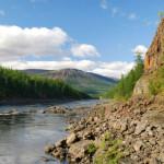 Песчано-гравийно-галечниковые отложения к реке Норильской.