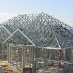 Строительство зданий из металлоконструкций.