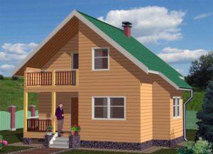 проекты домов из бруса 7х8