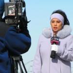 Телевизионные репортеры.